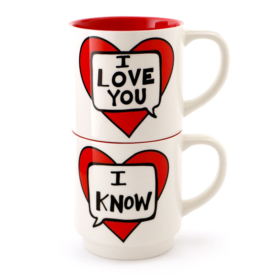 I Love You I know Stacking Mug