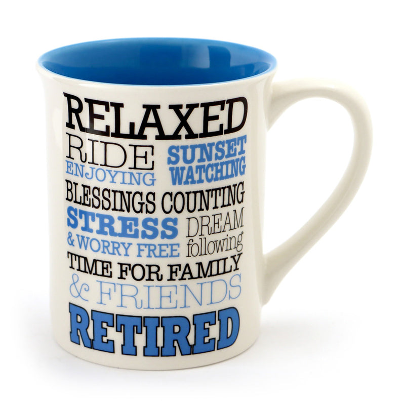 Retired Typography Mug