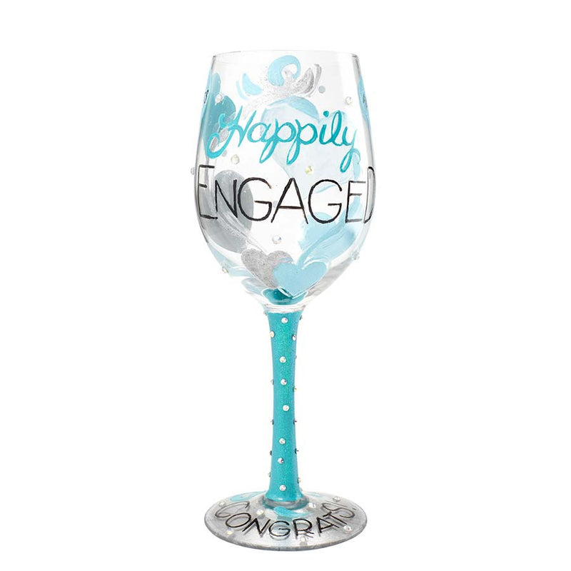 Wine Glass Happily Engaged