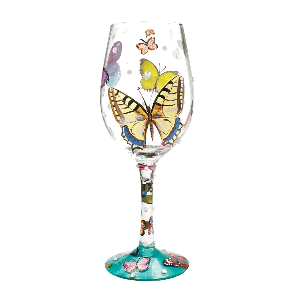 Wine Glass Butterflies