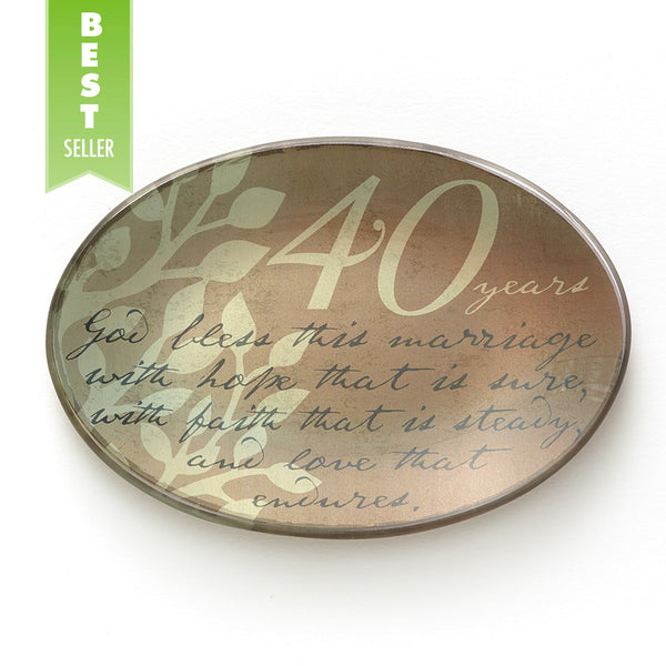 40th Anniversary Plate