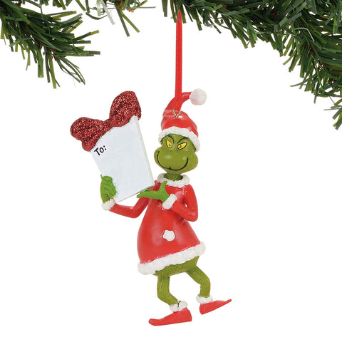 Grinch Personalizable Ornament