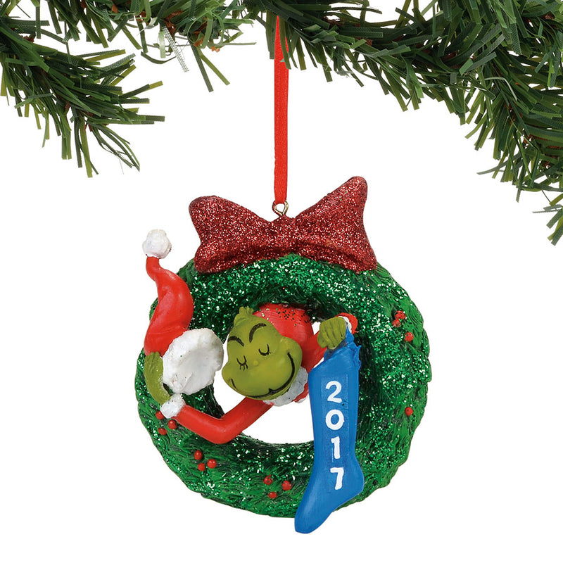 Grinch 2017 Dated Wreath Orn