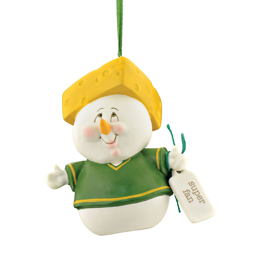 Super Fan Cheesehead Ornament
