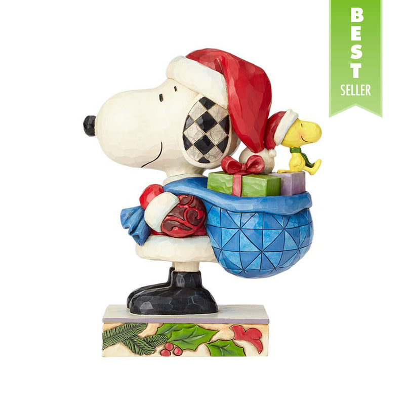 Santa Snoopy and Woodstock