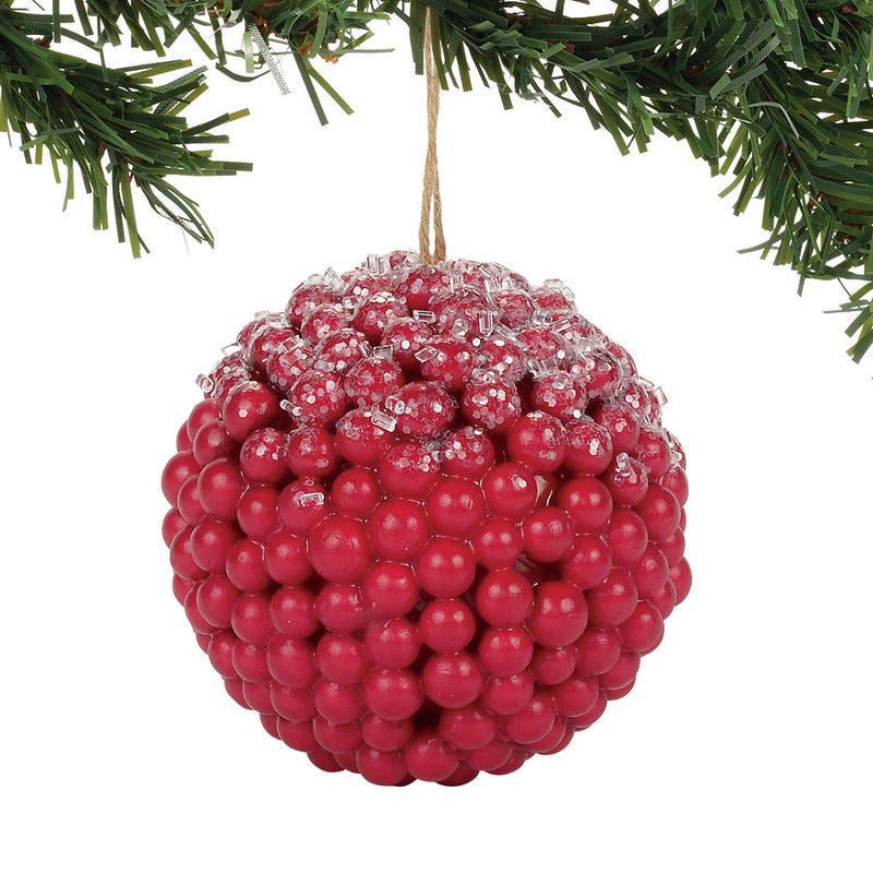 ICED RED BERRY ORNAMENT