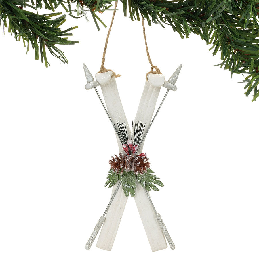 FROSTY SKIS ORNAMENT