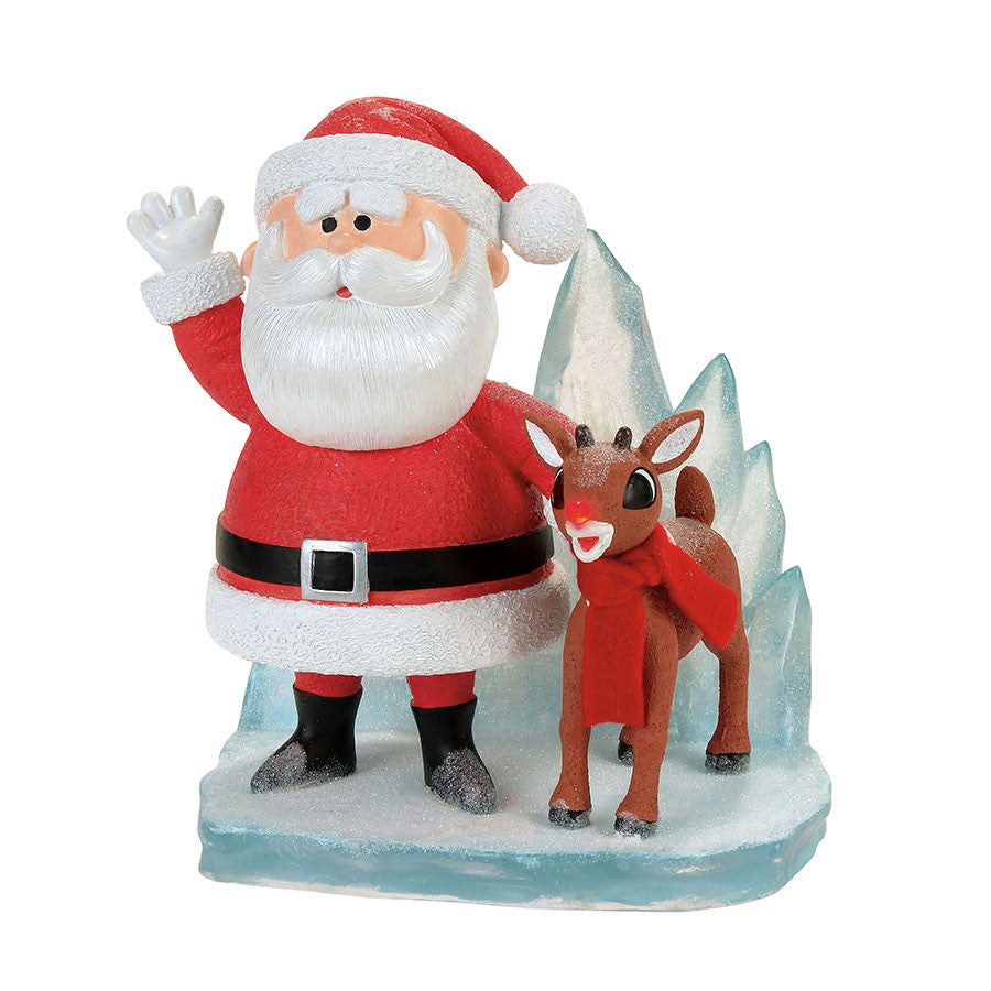 Rudolph and Santa Figurine
