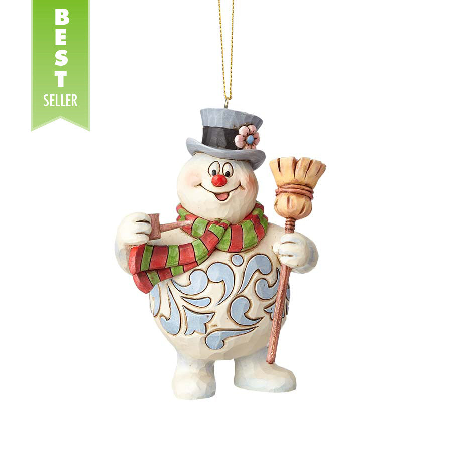 frosty with broom ornament - Christmas Broom Decoration