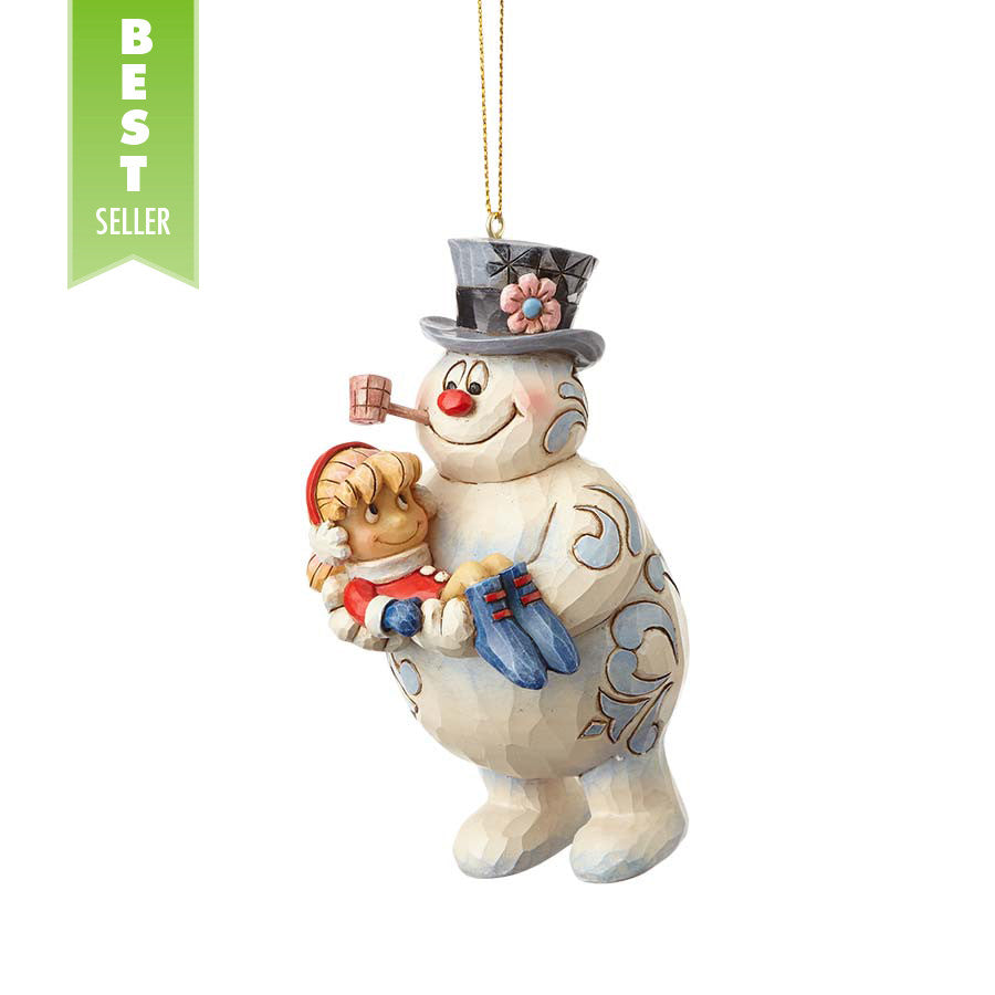 Frosty Holding Karen Ornament