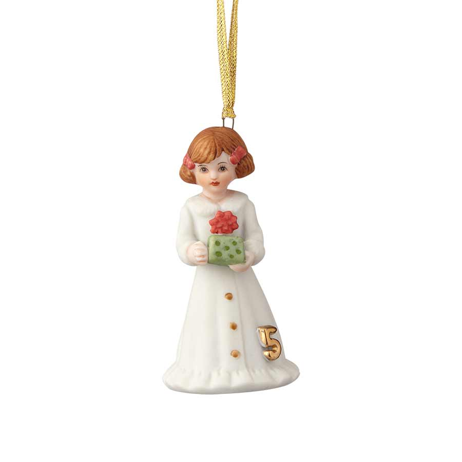 Brunette Age 5 Ornament