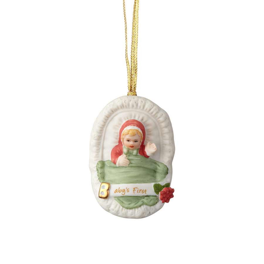 Blonde Baby's First Ornament