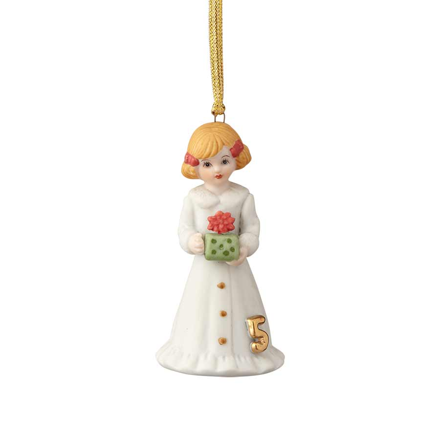 Blonde Age 5 Ornament