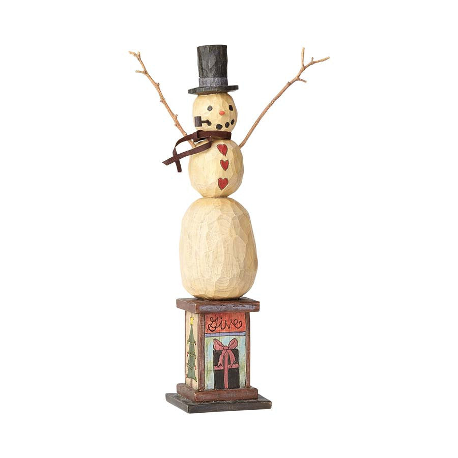 Give Peace Snowman Figure