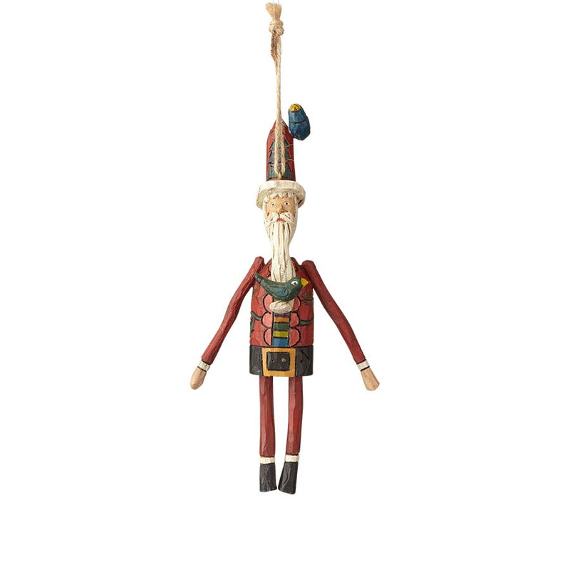 Santa with Bird Ornament