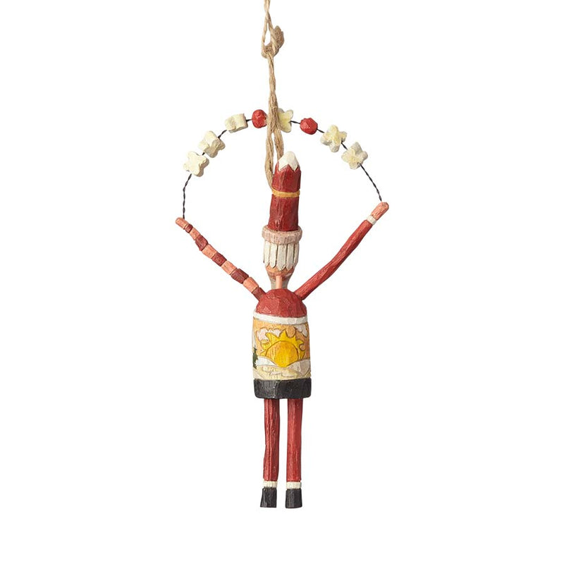 Santa with Garland Ornament