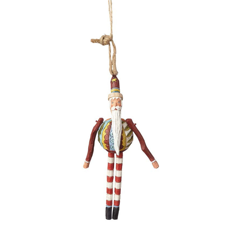 Santa w. Striped Legs Ornament