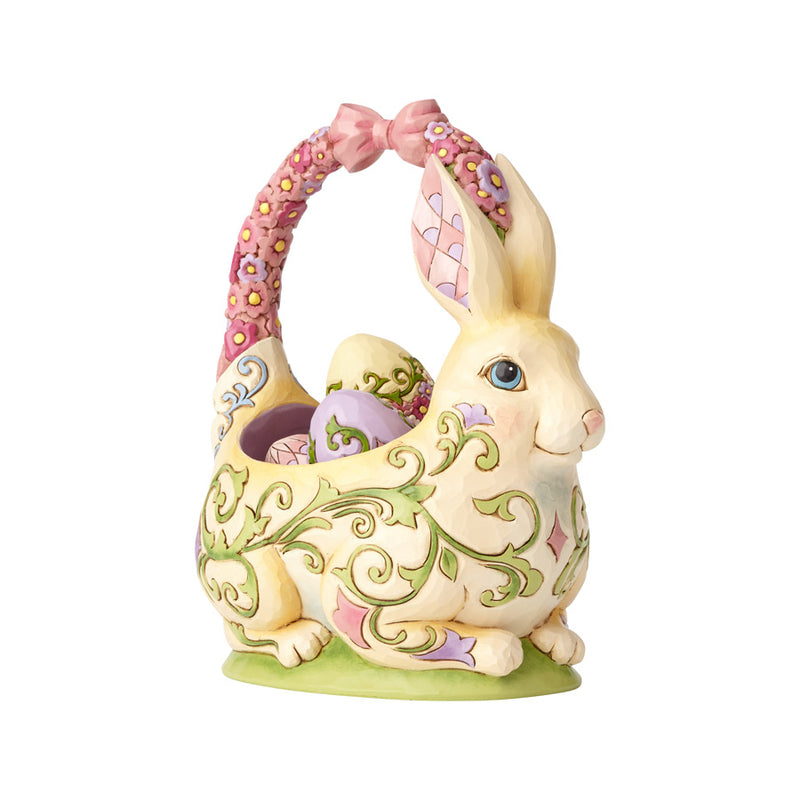 Bunny Basket with 4 Eggs