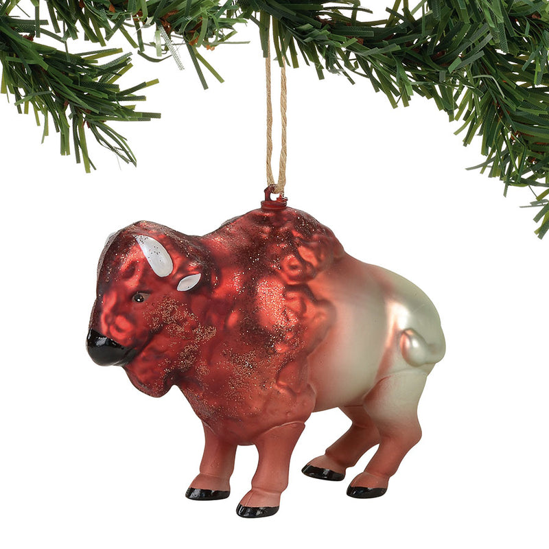 Glass Buffalo Ornament