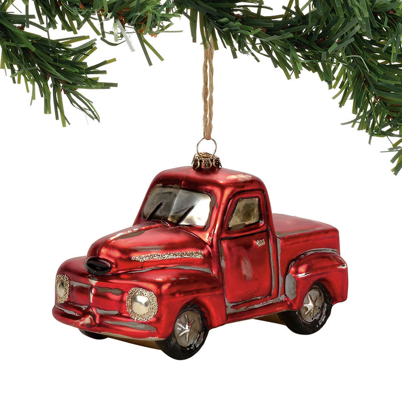 Red Pick Up Truck Ornament