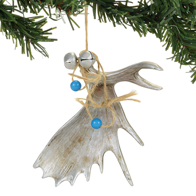 Silver Antler Ornament