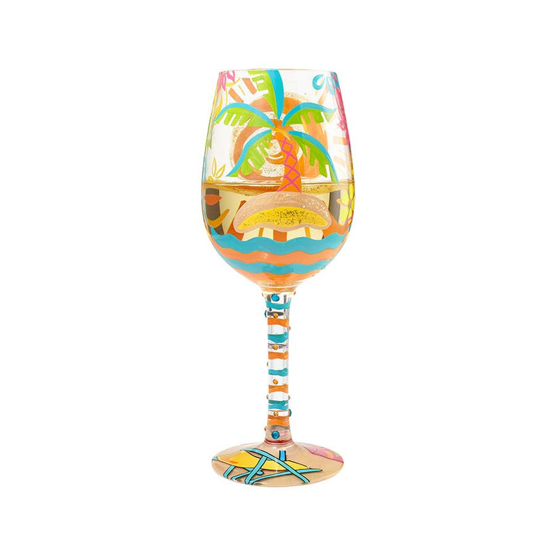 Wine Glass Here Comes Summer