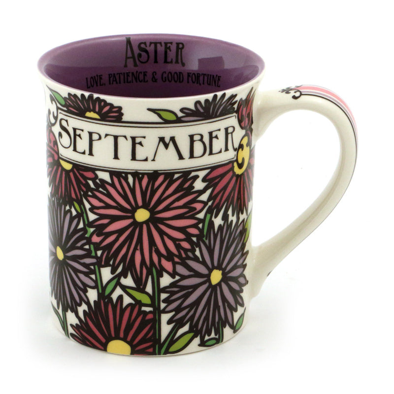 September Birthday Flower Mug