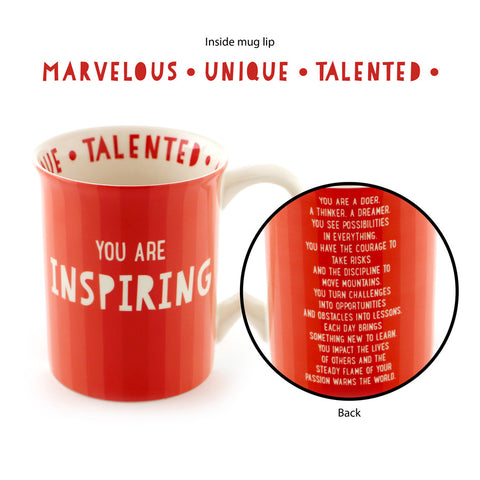 Red Inspiring and Talented Mug