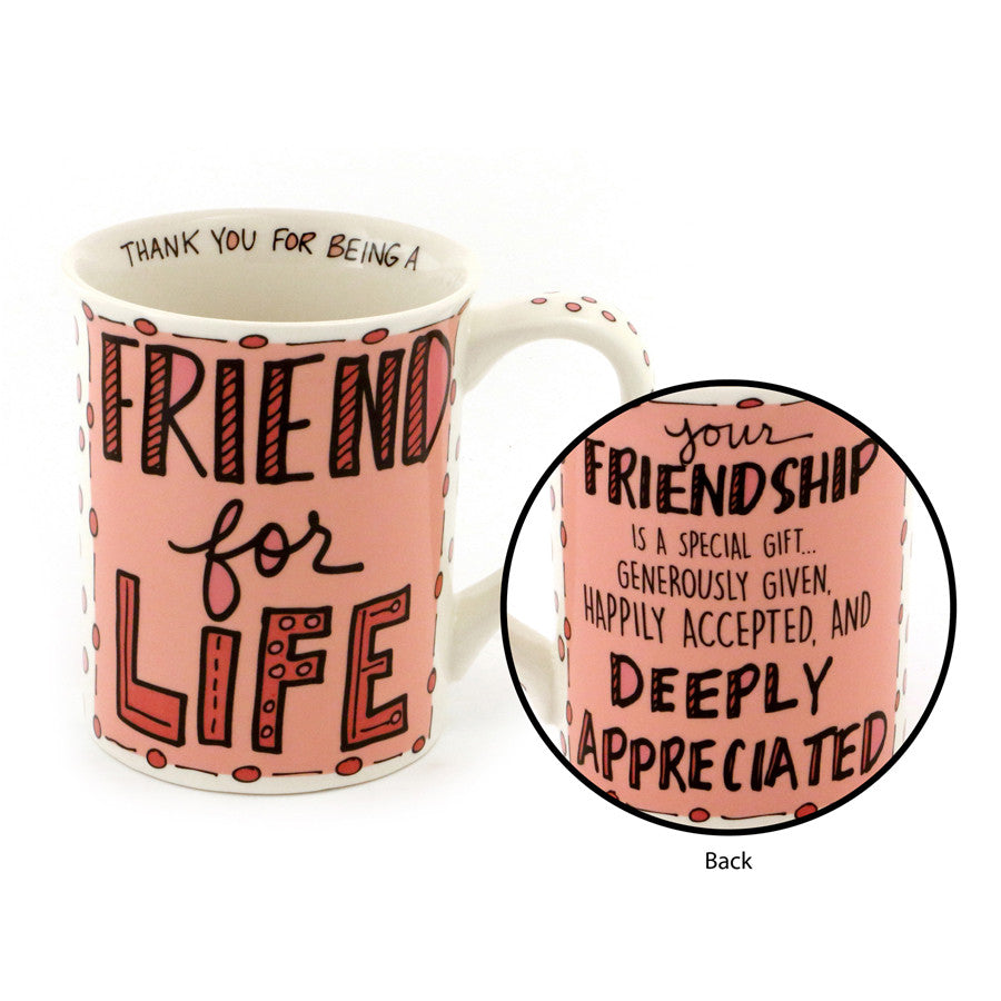 Friend For Life Handrawn Mug