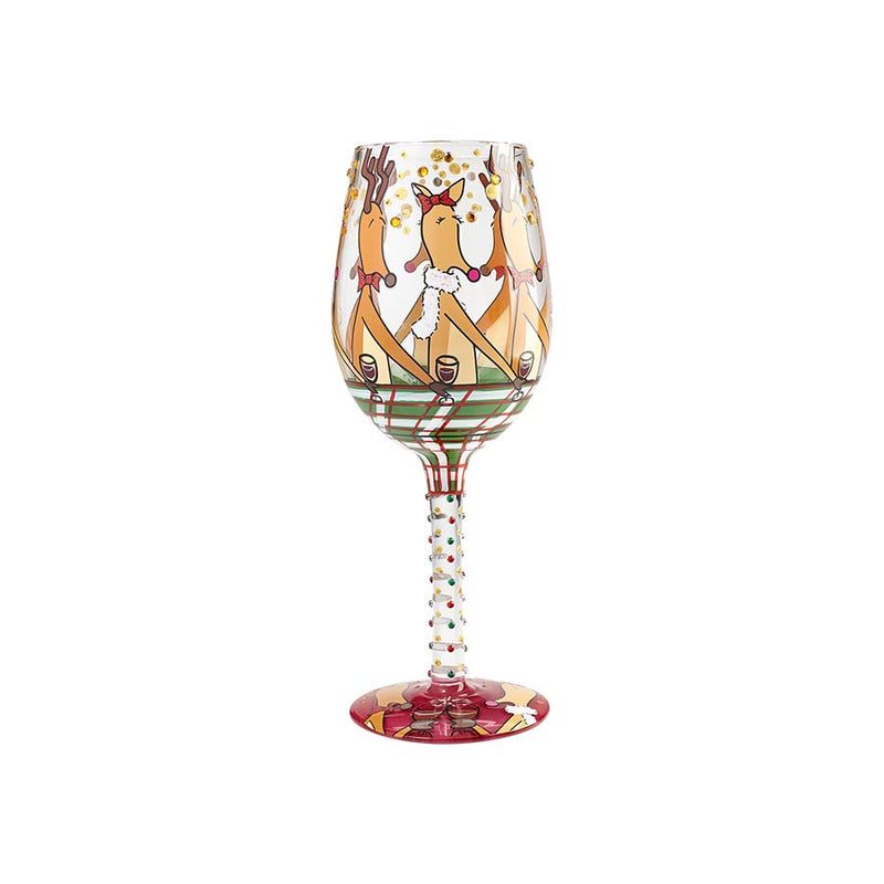Wine Glass Reindeer Party