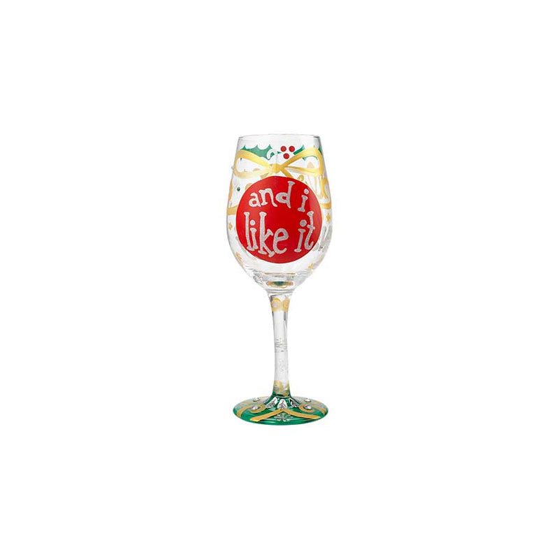 Wine Glass Naughty X-mas