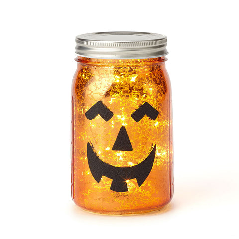 Halloween LIT Pumpkin Jar