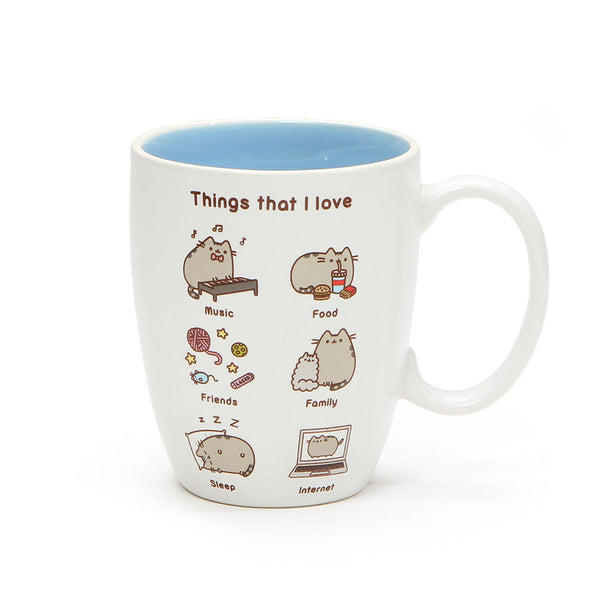THINGS I LOVE PUSHEEN MUG