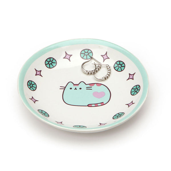 PUSHEEN BLUE TRINKET TRAY