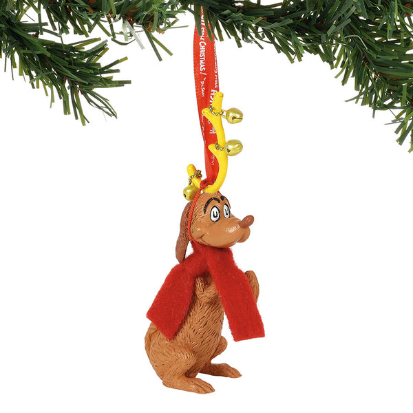 Max with Jingle Bells Ornament