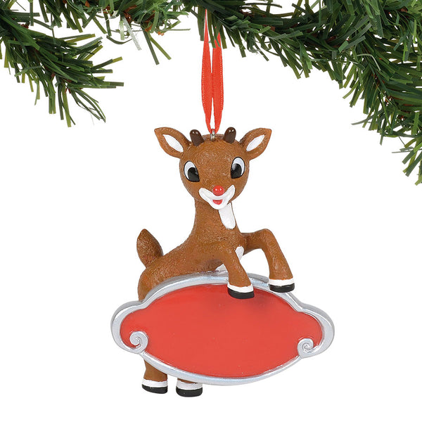 Rudolph Personalizable Orn.