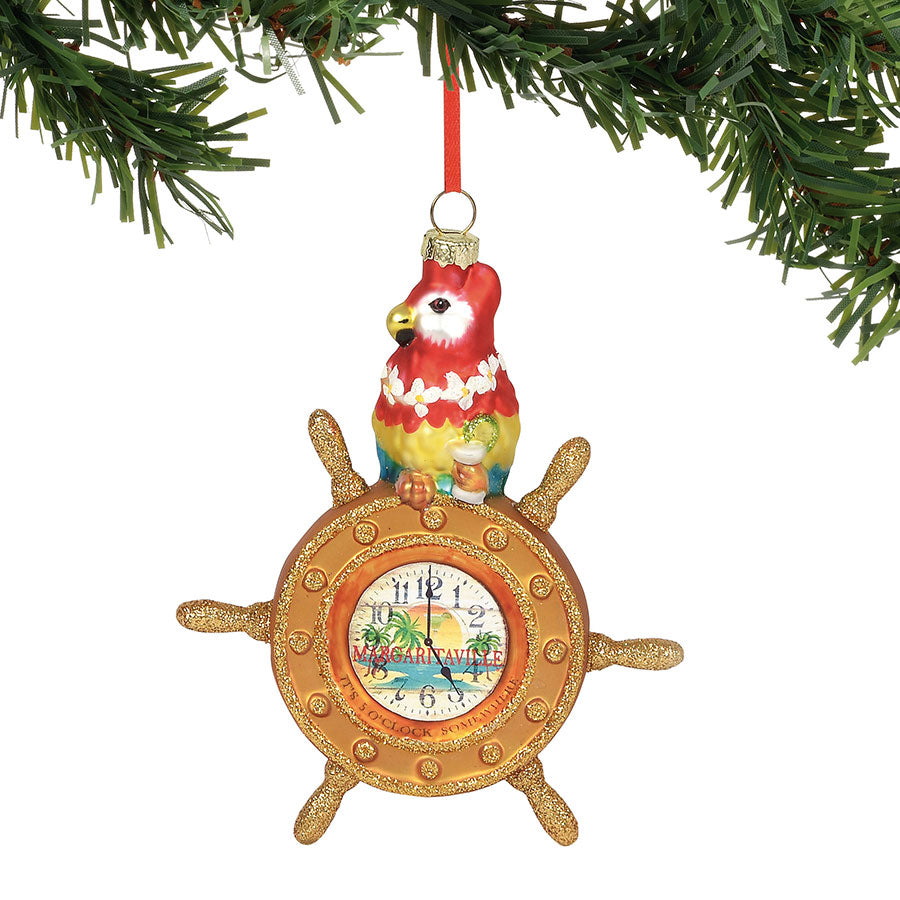 Parrot at the Helm Ornament