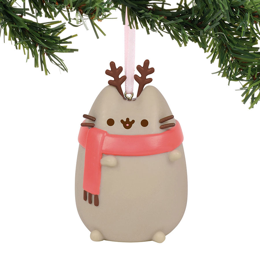 Pusheen Reindeer Ornament