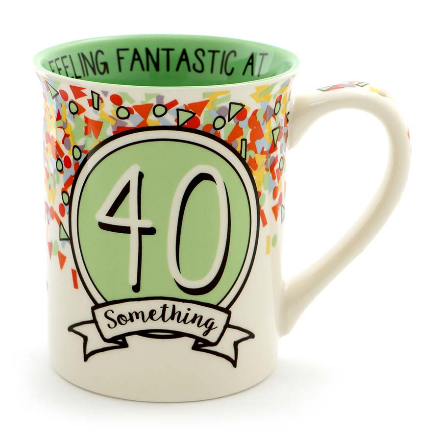 40 SOMETHING BIRTHDAY MUG