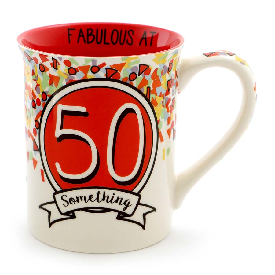 50 SOMETHING BIRTHDAY MUG