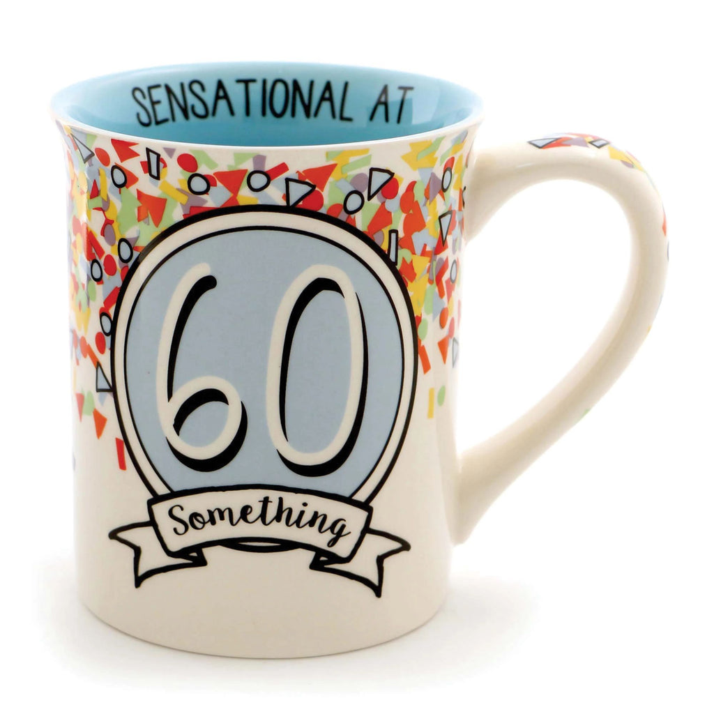 60 SOMETHING BIRTHDAY MUG