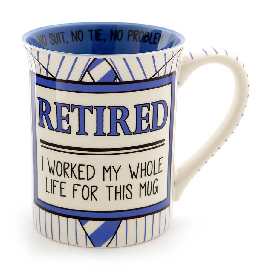 RETIRED SHIRT TIE MUG