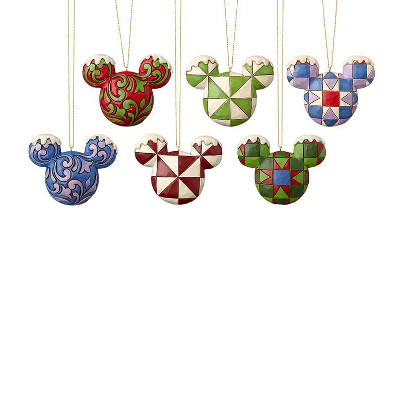 Mickey Head Ornament Set