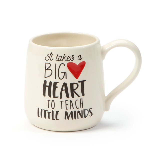 Big Heart Teacher Mug