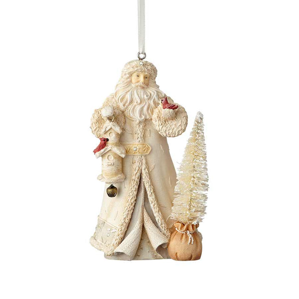 Santa with Bird House Ornament