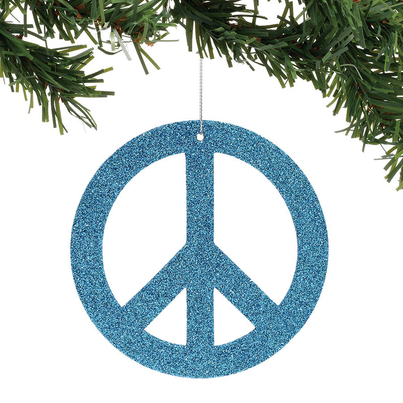 Peace Symbol Ornament