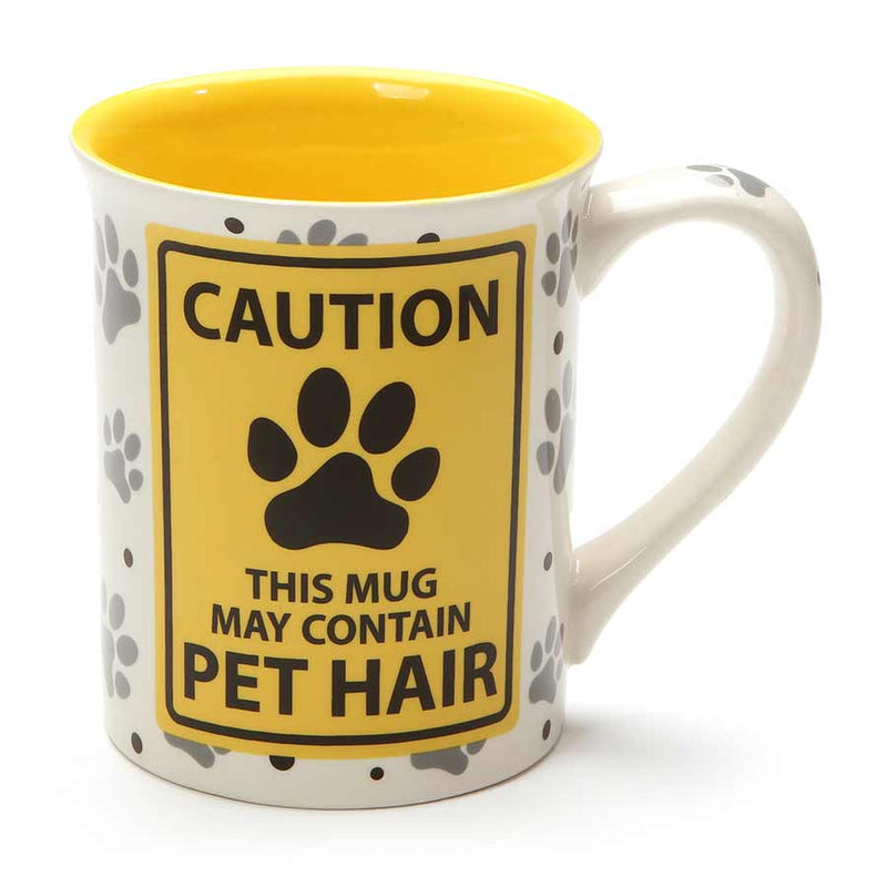 CAUTION PET HAIR MUG