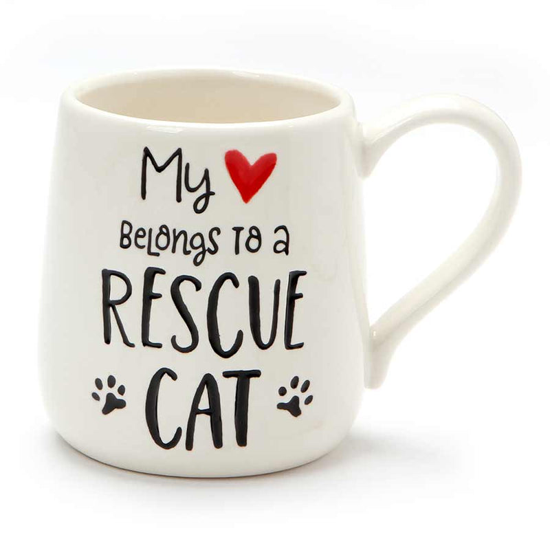 HEART RESCUE CAT  ETCHED MUG