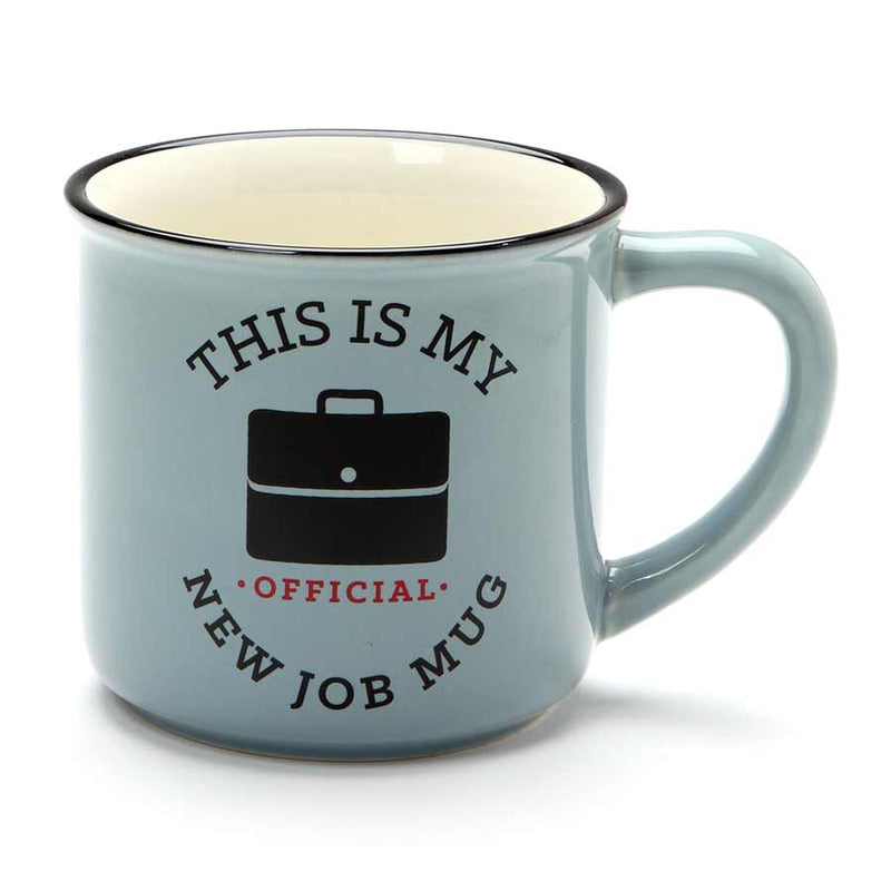 OFFICIAL NEW JOB CAMPER MUG