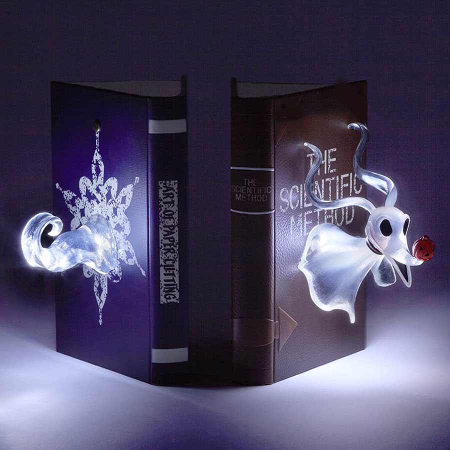 Light-Up Zero Bookends